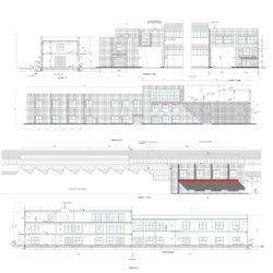 Pianta. Progettazione di nuovo edificio per uffici e magazzino a Calenzano.