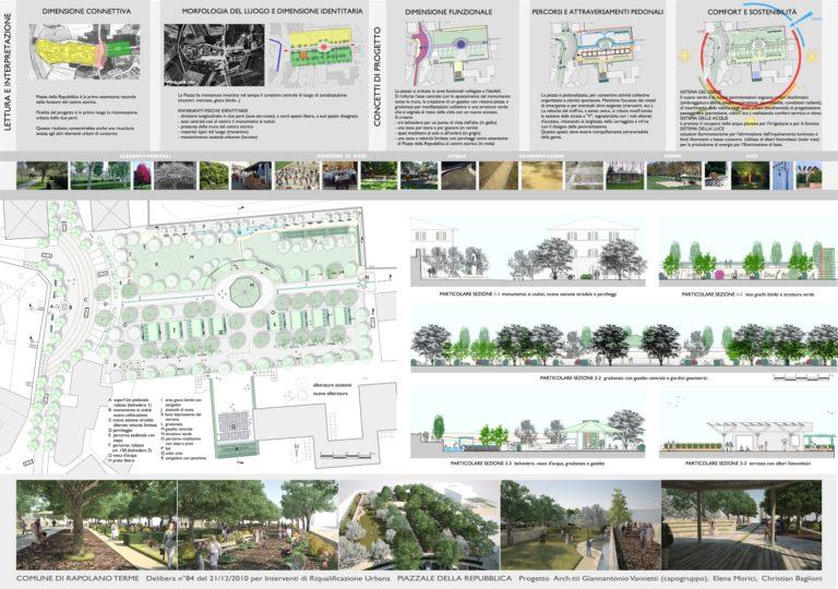 Tavola progetto di riqualificazione urbana, Rapolano Terme
