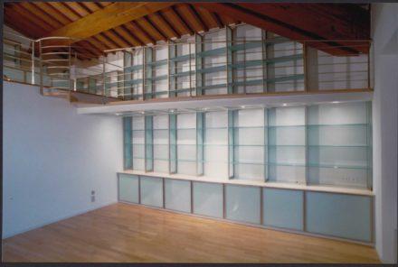 Libreria. Progettazione d'interni per casa colonica a Montale.