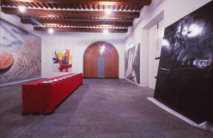 Saletta esterno. Design d'interni per sala multimediale Fattoria di Celle, Santomato