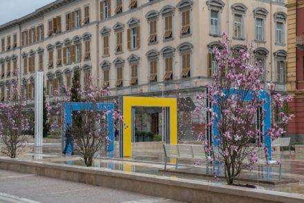 Installazione artistica in Piazza Verdi a La Spezia