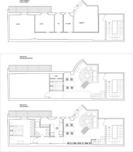 Pianta. Ristrutturazione appartamento trilocale a Firenze