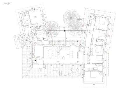 Pianta terra. Ristrutturazione di villa a Roccamare (GR)