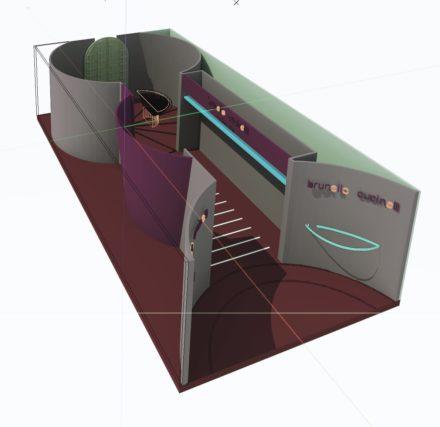 Vista 3D dello stand
