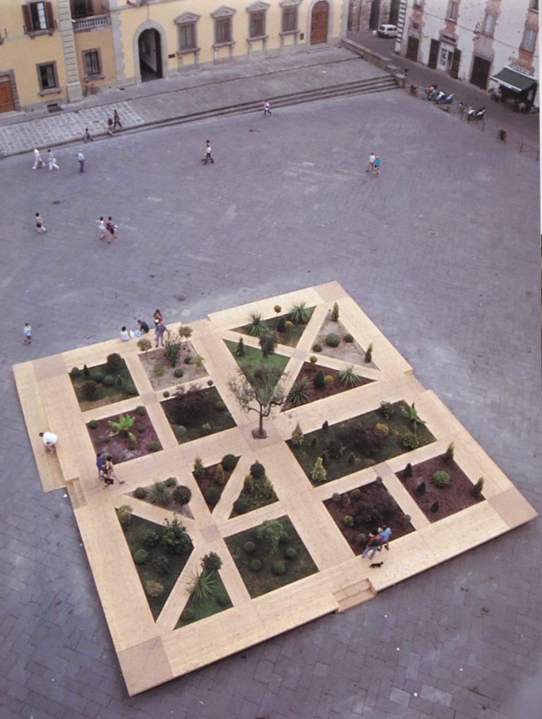 VIVAIO PER LA PACE, 1999. Piazza del Duomo, Pistoia