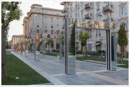Progettazione d'arte nello spazio pubblico: sistemazione di Piazza Verdi a La Spezia con l'artista Daniel Buren. Vannetti architetti