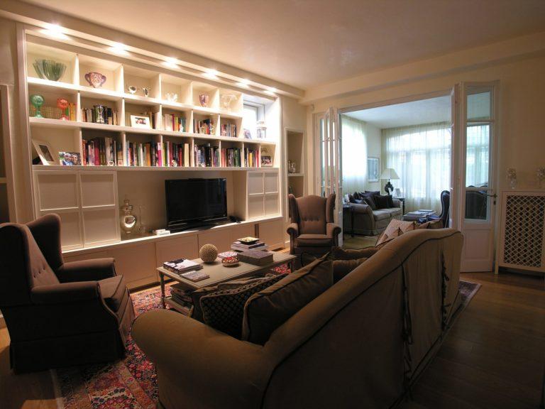Sala studio. Ristrutturazione di appartamento a Prato