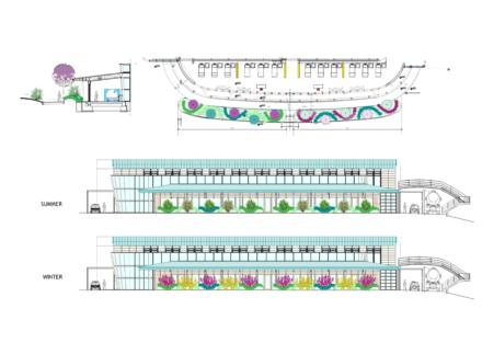 Progetto Sistemazione a verde Padiglione emodialisi Ospedale di Pistoia