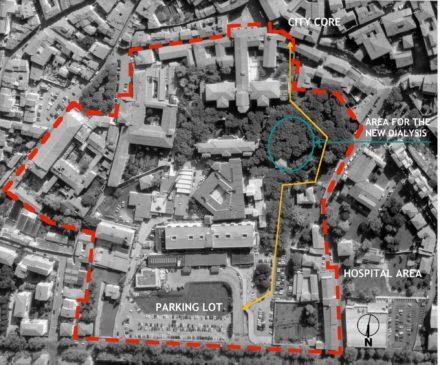 Area del Nuovo Padiglione di Emodialisi ospedale di Pistoia