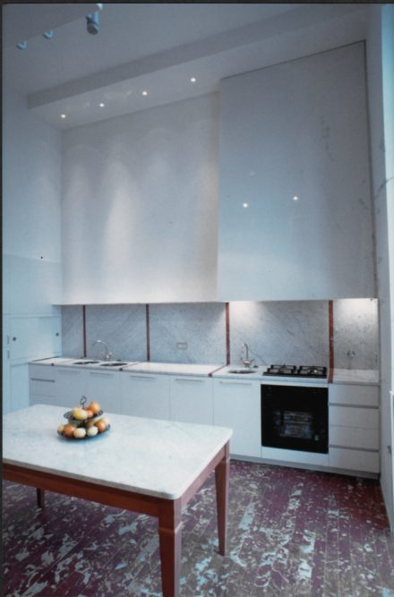 Cucina. Casa colonica a Montale.