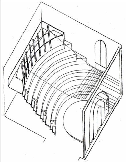 Il luogo asso. Design d'interni per sala multimediale Fattoria di Celle, Santomato