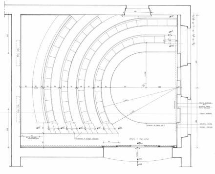 Pianta. Design d'interni per sala multimediale Fattoria di Celle, Santomato
