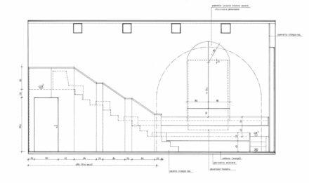 Prospetto interno. Design d'interni per sala multimediale Fattoria di Celle, Santomato