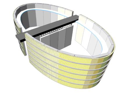 Vista in 3D del nucleo