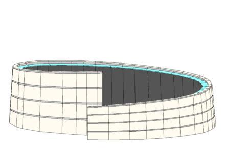 Vista laterale del nucleo